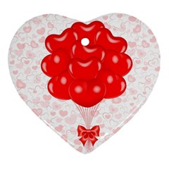 Abstract Background Balloon Heart Ornament (two Sides) by Nexatart
