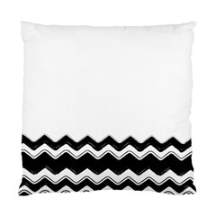 Chevrons Black Pattern Background Standard Cushion Case (Two Sides)