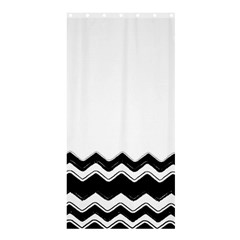 Chevrons Black Pattern Background Shower Curtain 36  X 72  (stall)  by Nexatart