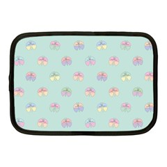 Butterfly Pastel Insect Green Netbook Case (medium)  by Nexatart