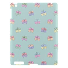 Butterfly Pastel Insect Green Apple Ipad 3/4 Hardshell Case by Nexatart