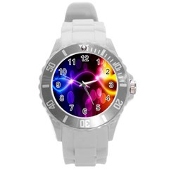Circle Color Round Plastic Sport Watch (l) by Jojostore