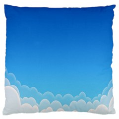 Clouds Illustration Standard Flano Cushion Case (two Sides) by Jojostore
