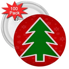 Christmas Tree 3  Buttons (100 Pack)  by Nexatart