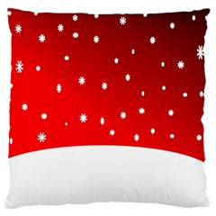 Christmas Background  Large Flano Cushion Case (two Sides) by Nexatart