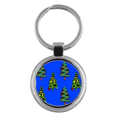Christmas Trees Key Chains (Round)  by Nexatart