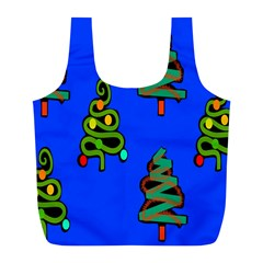 Christmas Trees Full Print Recycle Bags (l)  by Nexatart
