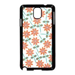 Clipart Floral Seamless Flower Leaf Samsung Galaxy Note 3 Neo Hardshell Case (black) by Jojostore