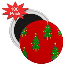 Christmas Trees 2 25  Magnets (100 Pack)  by Nexatart