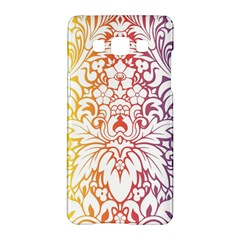 Cool Flower Rainbow Blue Purple Red Orange Yellow Green Samsung Galaxy A5 Hardshell Case  by Jojostore