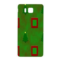Christmas Trees And Boxes Background Samsung Galaxy Alpha Hardshell Back Case by Nexatart