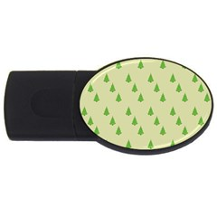 Christmas Wrapping Paper Pattern Usb Flash Drive Oval (2 Gb) by Nexatart