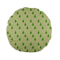 Christmas Wrapping Paper Pattern Standard 15  Premium Flano Round Cushions by Nexatart