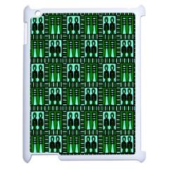 Egyptianpattern Colour Green Apple Ipad 2 Case (white) by Jojostore