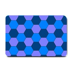 Four Colour Theorem Blue Grey Small Doormat  by Jojostore