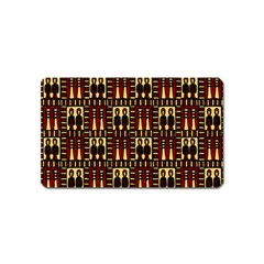 Egyptianpattern Colour Red Magnet (Name Card) by Jojostore
