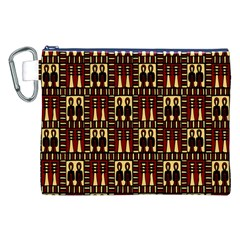 Egyptianpattern Colour Red Canvas Cosmetic Bag (xxl) by Jojostore