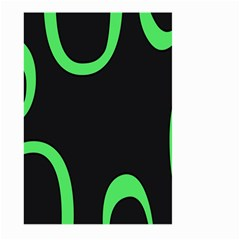 Green Rings Black Large Garden Flag (Two Sides) by Jojostore