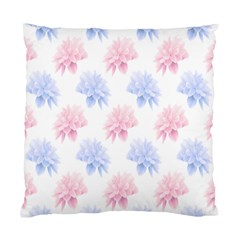 Flower Blue Pink Standard Cushion Case (two Sides) by Jojostore