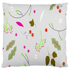 High Res Leaf Flower Fruit Large Flano Cushion Case (two Sides) by Jojostore