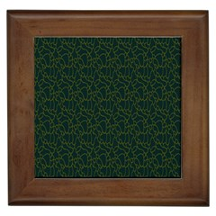 Grid Background Green Framed Tiles by Jojostore