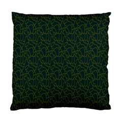 Grid Background Green Standard Cushion Case (two Sides) by Jojostore