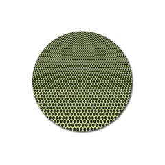 Hexagon Green Magnet 3  (round) by Jojostore