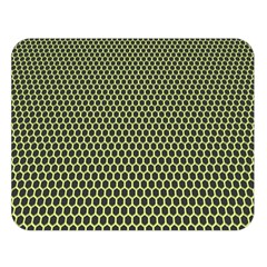 Hexagon Green Double Sided Flano Blanket (large)  by Jojostore