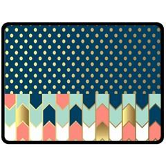 Preppy Personalized Yubo Lunch Box Gold Blue Pink Grey Double Sided Fleece Blanket (large)  by Jojostore