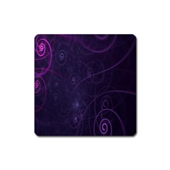 Purple Abstract Spiral Square Magnet by Jojostore