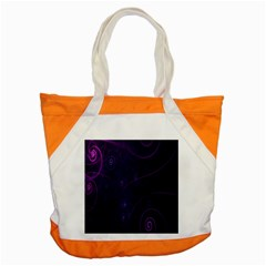 Purple Abstract Spiral Accent Tote Bag by Jojostore