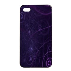 Purple Abstract Spiral Apple Iphone 4/4s Seamless Case (black) by Jojostore