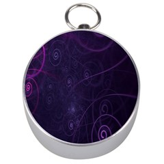 Purple Abstract Spiral Silver Compasses by Jojostore