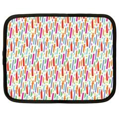 Splash Pattern Color Sign Netbook Case (large) by Jojostore