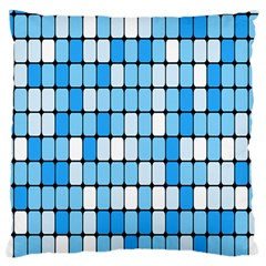 Ronded Square Plaid Blue Standard Flano Cushion Case (one Side) by Jojostore