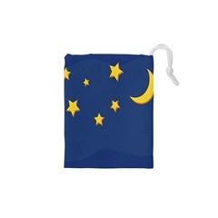 Starry Night Moon Drawstring Pouches (xs)  by Jojostore