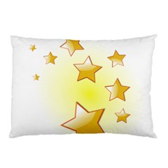 Star Gold Pillow Case by Jojostore