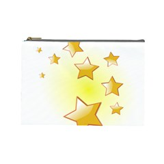 Star Gold Cosmetic Bag (large)  by Jojostore
