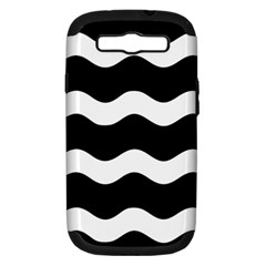 Wave Black Samsung Galaxy S III Hardshell Case (PC+Silicone) by Jojostore