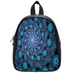 Illusion Spiral Rotation Shape Purple Flower School Bags (small)  by Jojostore