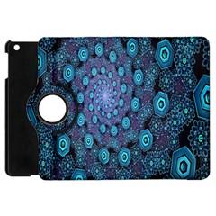 Illusion Spiral Rotation Shape Purple Flower Apple Ipad Mini Flip 360 Case by Jojostore