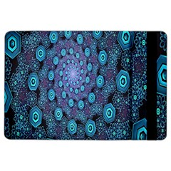 Illusion Spiral Rotation Shape Purple Flower Ipad Air 2 Flip by Jojostore