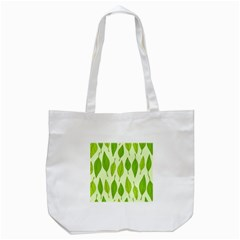 Spring Leaf Green Tote Bag (white) by Jojostore