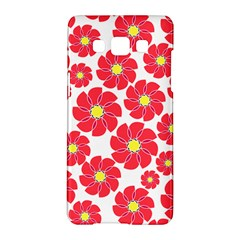 Seamless Floral Flower Red Fan Red Rose Samsung Galaxy A5 Hardshell Case  by Jojostore