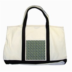 Floral Seamless Flower Blue Two Tone Tote Bag by Jojostore