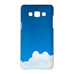 Clouds Illustration Blue Sky Samsung Galaxy A5 Hardshell Case  by Jojostore