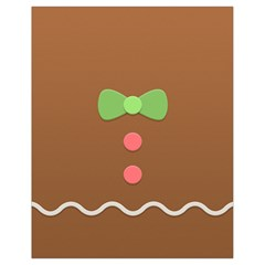Stunning Gingerbread Brown Bread Drawstring Bag (small) by Jojostore