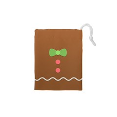 Stunning Gingerbread Brown Bread Drawstring Pouches (xs)  by Jojostore