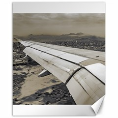 Airplane Arriving To Small Town Canvas 16  X 20   by dflcprints