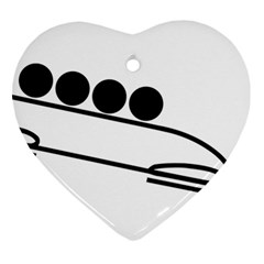Bobsleigh Pictogram Ornament (heart) by abbeyz71